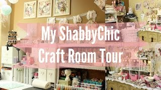 My Beautiful Shabby Chic Craft Room Tour | Workspace | Stress Buster | Scrapbook