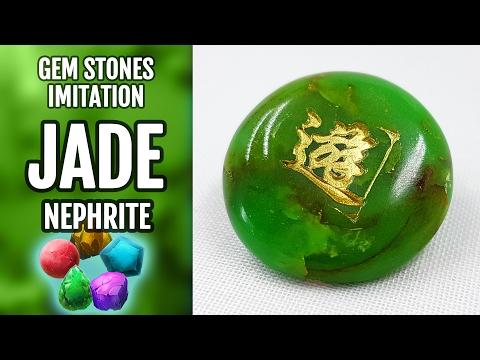 DIY Polymer Clay Realistic Natural Jade Gemstone. Gemstone imitation technique. VIDEO Tutorial!