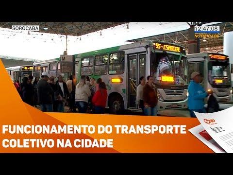 Funcionamento do transporte coletivo na cidade - TV SOROCABA/SBT