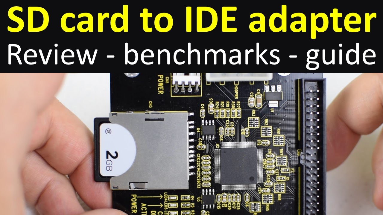 Sd Memory Card To Ide Adapter Review Benchmarks Guide Youtube Notebook Interface Cdrom Usb External Drive Circuit Board 3