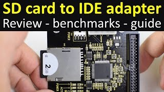 SD memory card to IDE adapter review benchmarks guide