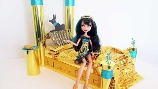 How to make a Cleo De Nile doll bed Tutorial/ Monster High