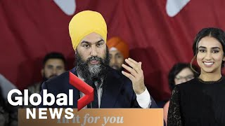 Canada election: Jagmeet Singh gives celebratory speech despite NDP drop in seats | FULL