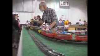 ACSG Washington and Old Dominion Div running trains at Greenberg Train Show