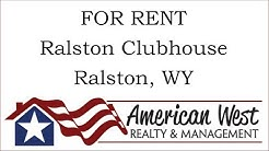 For Rent: Ralston Clubhouse, Ralston, WY 82440