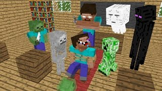Monster School : MOB vs Noob - Minecraft Animation
