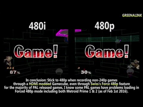 HDMI modified Gamecube: Why recording 480i source is bad!