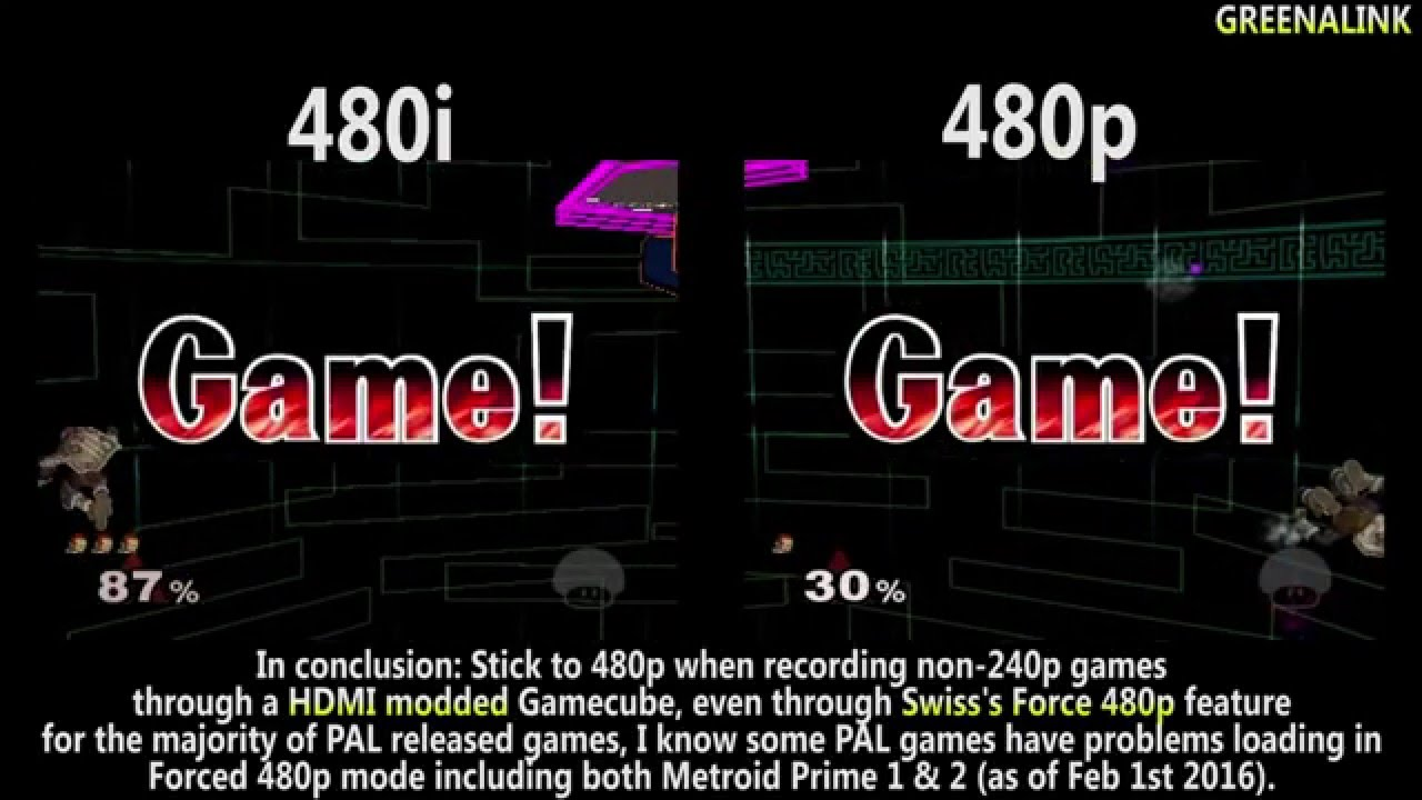Hdmi Modified Gamecube Why Recording 480i Source Is Bad