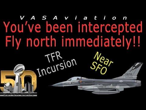 REAL ATC Aircraft INTERCEPTED  MILITARY F16 at SUPER BOWL!!
