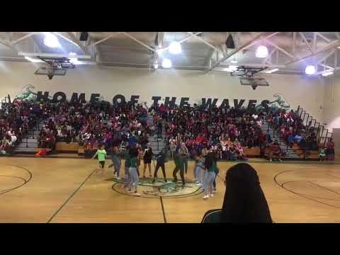 Kelly Mill Middle School Cheerleaders 2018 Pep Rally. *emotional*