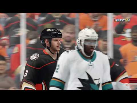 NHL 18 Gameplay San Jose Sharks vs. Anaheim Ducks (WCQF Game 2)