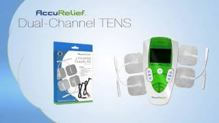 accurelief dual channel tens pain relief system over the counter tens unit