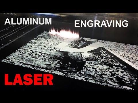 Laser [PHOTO] engraving aluminum - (TIPS) metal etching