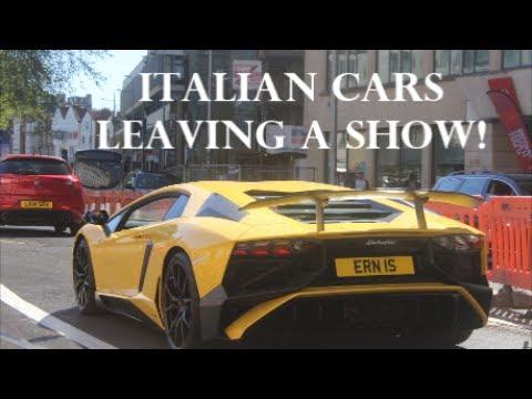 Italian Cars Leaving An Italian Car Show April YouTube - Italian car show