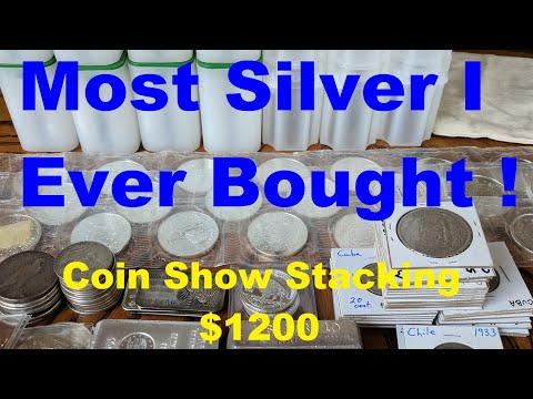Coin Show Recap & Tips - Most silver ever bought at once - Silver Saving Tips & Stacking Strategy