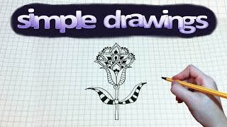Simple drawing #97 How to draw a Flower pattern