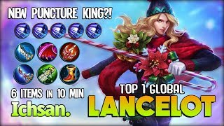 Nerf Me More?! 17 Kill New Puncture King! Ichsan. Top 1 Global Lancelot ~ Mobile Legends