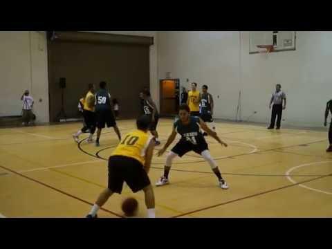 Hawaii Basketball Summer League - Electricians HI vs Clark Hatch - 1st Half  7-9-16