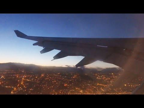 Hi Fly Airbus A340 CS-TQZ - Night Take Off at Nice Côte d'Azur Airport