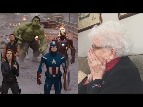 Showing My Grandma The Avengers For The First Time (Supercut!)