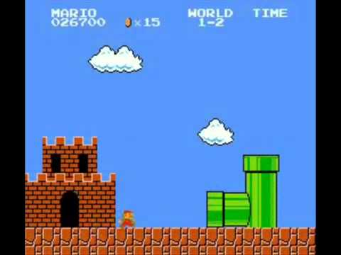 Super Mario Bros entrando al túnel