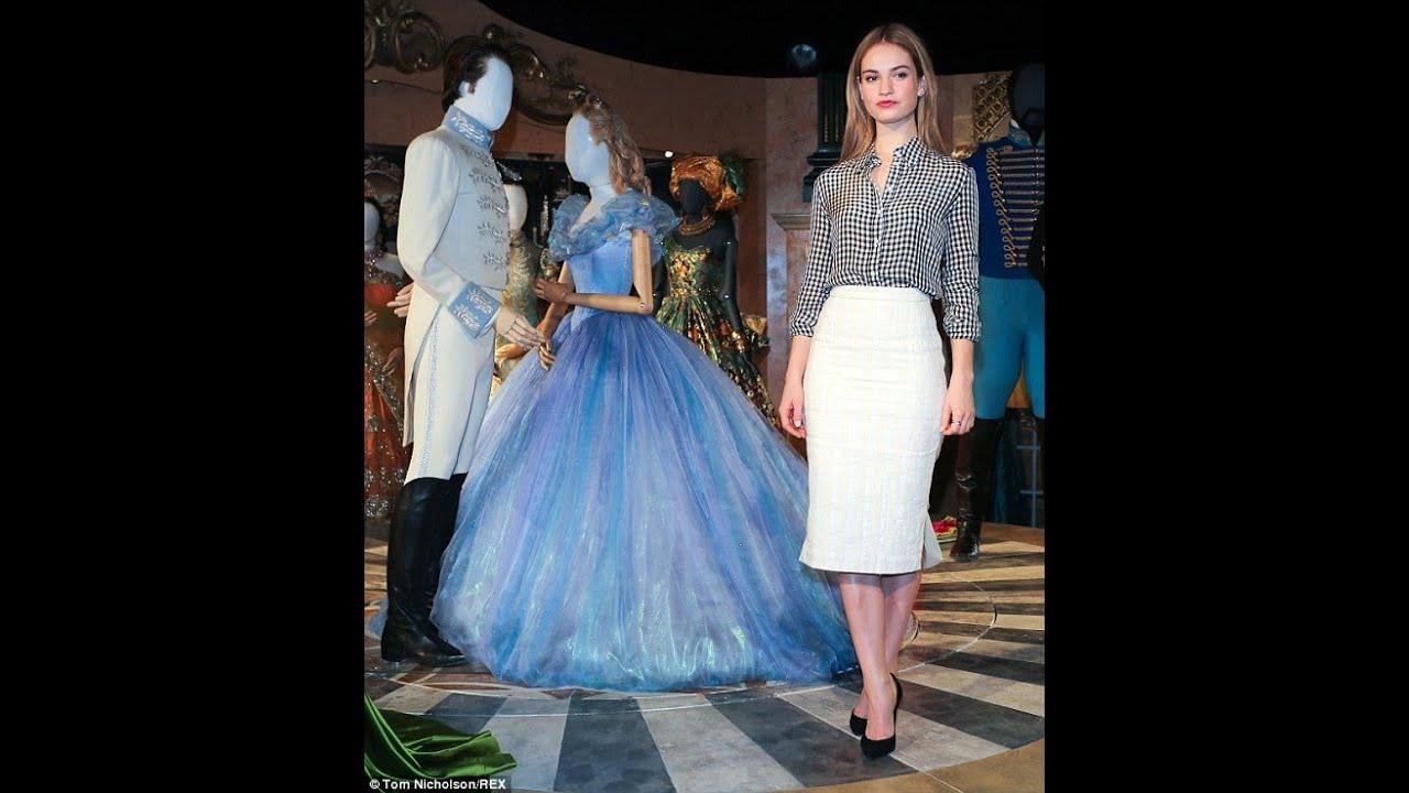 Lily James Cinderella Dress Exhibition Richard