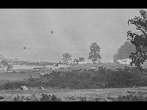 Film-Like Photographic Sequence of a Union Army Camp in Virginia During the Civil War (1860's)