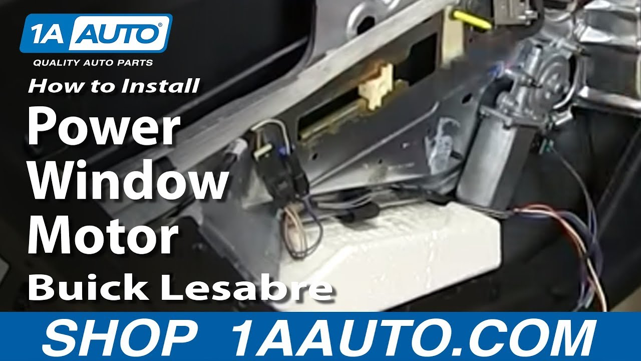 How To Install Replace Rear Power Window Motor 1993 99