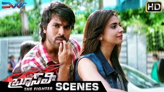 Ram Charan & Rakul Preet go for a Ride | Bruce Lee The Fighter Telugu Movie Scenes | Kriti Kharbanda