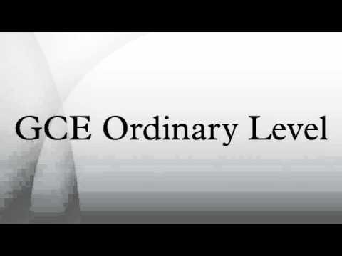 GCE Ordinary Level