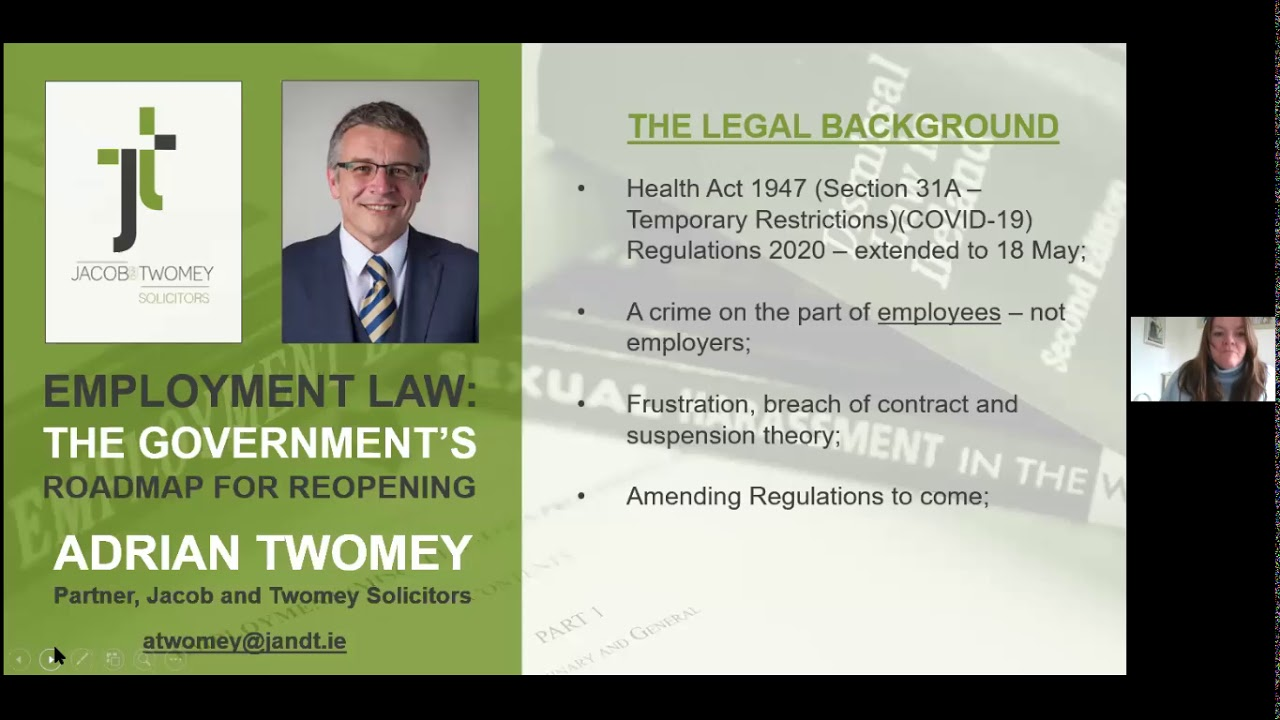 Webinar on COVID-19 & Employment Law