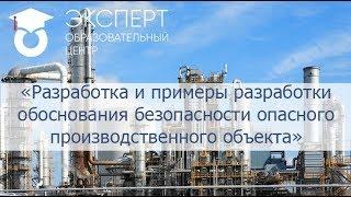 Разработка и примеры разработки обоснования безопасности опасного производственного объекта
