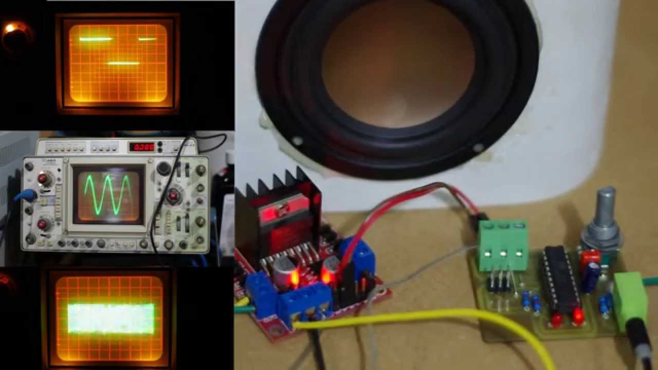 Class D amplifier from Attiny AVR and Motor H-Bridge - YouTube