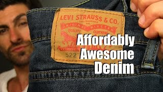 Affordably Awesome Denim Under $50 dollars | Levis 522 Jeans Review