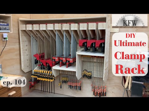 104 - DIY ULTIMATE CLAMP RACK With Lots Of Shelf Storage For The Workshop.