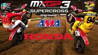 Ken Roczen 94  VS  Cole Seely 14  HONDA 450 crf 2017  MXGP3 - AMA Supercross