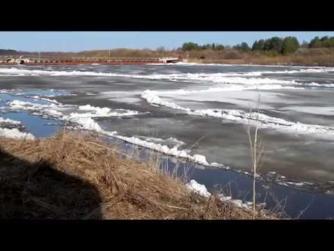 Начало ледохода на Сысоле 2019