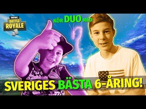 FORTNITE → Kör duo med SVERIGES BÄSTA 6-ÅRING! *Dulle2012*