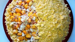 Салат из рыбных консервов /Салаты без майонеза.