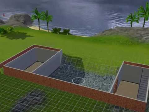 Sims 3 walk out basement tutorial youtube for How to build a house with a basement