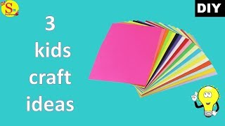 3 Easy Paper craft ideas for kids | Origami for beginners | Kids craft ideas with paper