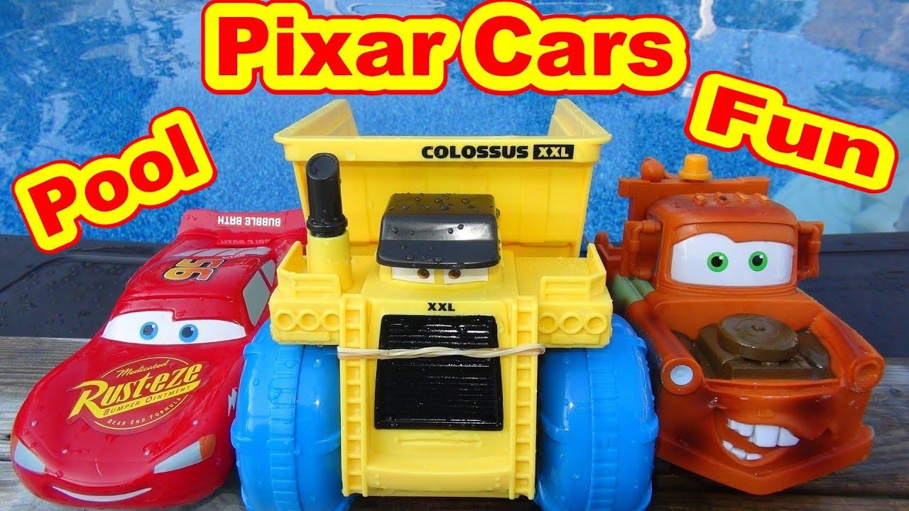 Disney Cars Toys Youtube: Disney Pixar Cars HydoWheels Lightning McQueen Pool Toys