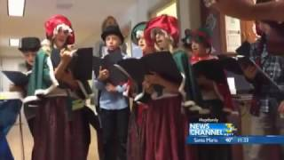 El Montecito School Carolers Visit Patients at Santa Barbara Cottage Hospital