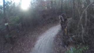 Bicycle post trails. Greenville NC