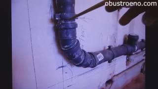 видео Крепление для канализационных труб: правила монтажа