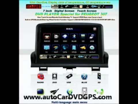 peugeot 307 radio dvd gps navigation stereo headunit autoradio youtube. Black Bedroom Furniture Sets. Home Design Ideas