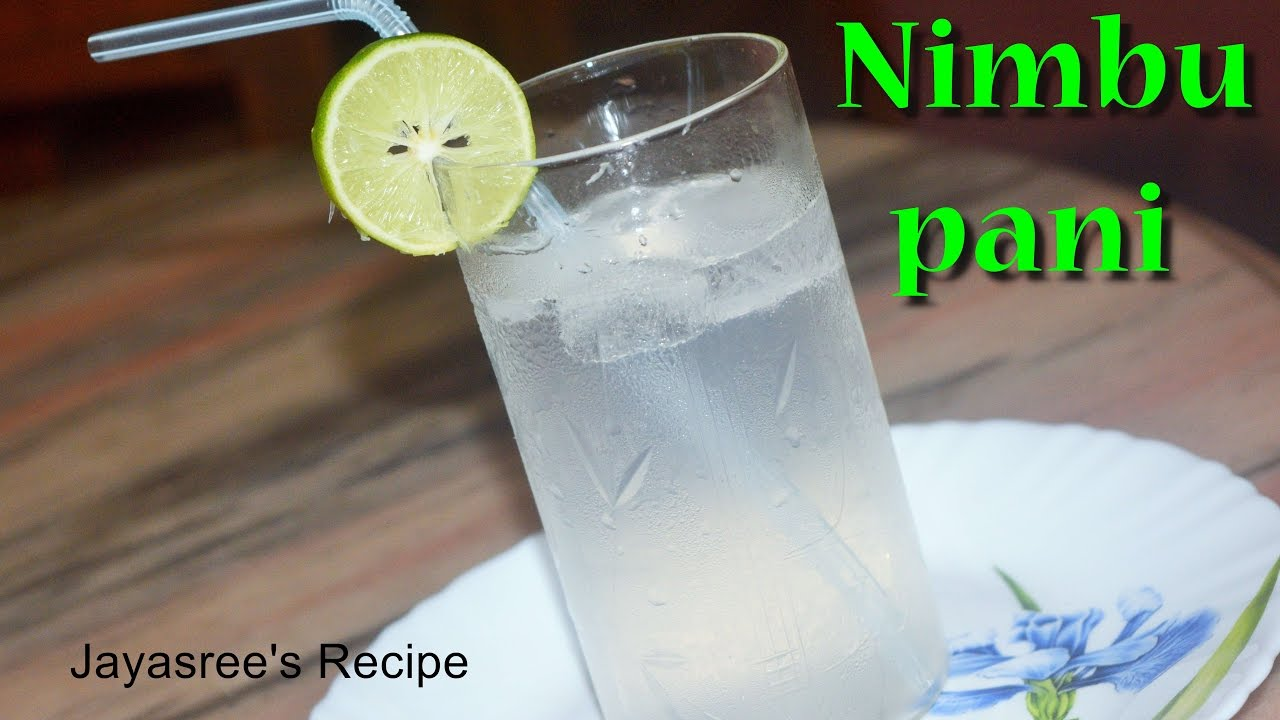 Nimbu pani - Lemon water- Refreshment drink - YouTube