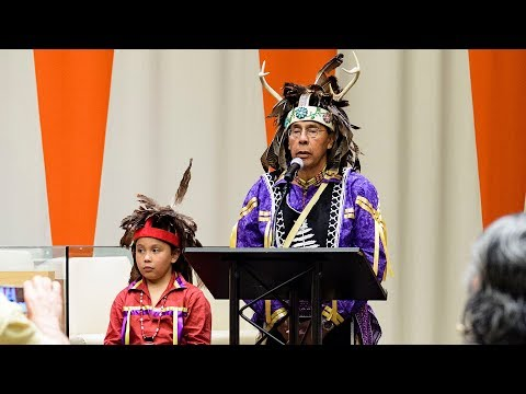 Chief Tadodaho Sidney Hill at Int'l Day of the World's Indigenous Peoples