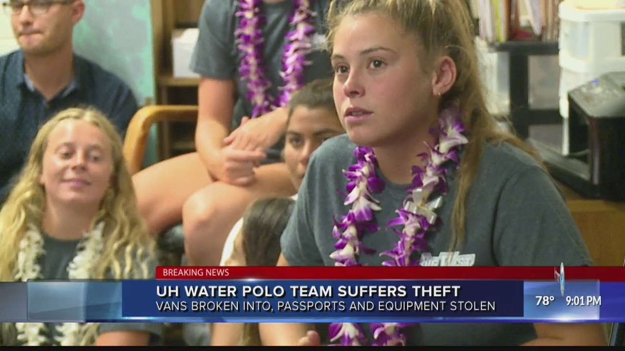 UH Water Polo Team suffers theft - YouTube