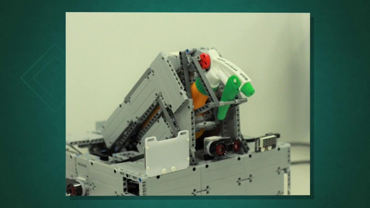 正修科技大學資管系智慧創客中心 × 熊貓發明家機器人教室-【自動消毒機器人】 - YouTube